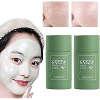 2PCS Green Tea Purifying Clay Stick Mask Oil Control Anti-Acne, Blackhead Remover, Natural Face Moisturizes Oil Control…