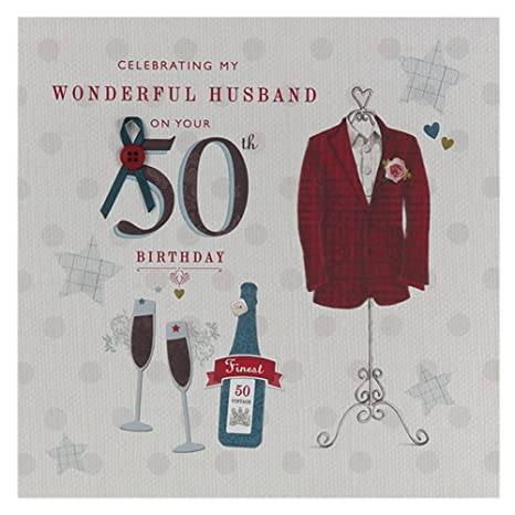 Amazon.com: Marido 50th cumpleaños, tarjeta de ...