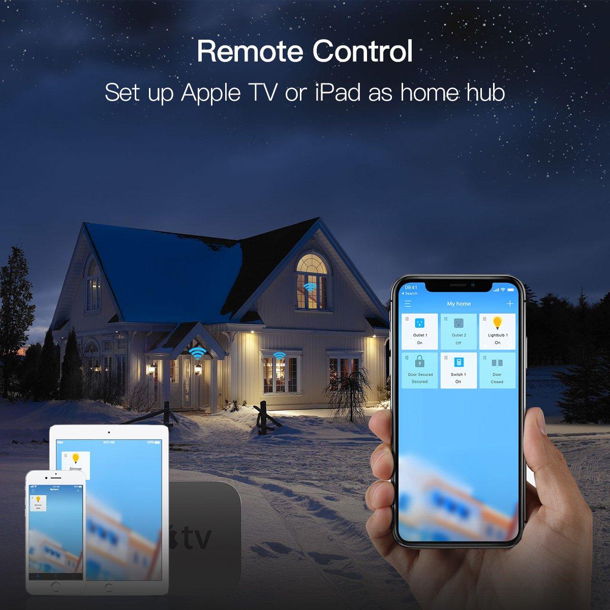Koogeek Smart Socket WiFi Enabled E26 Light Bulb Adapter Works with Apple HomeKit Support Siri Voice Control Home App on 2.4Ghz Network by Koogeek (Image #5)