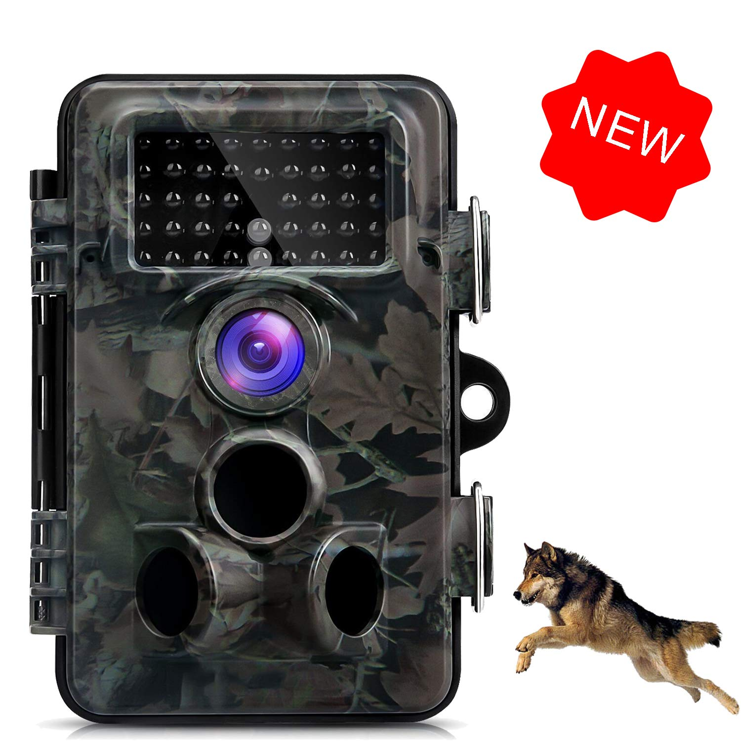 Trail Game Animal Camera, 1080P HD 12MP Infrared Hunting Outdoor Camera, 0.5s Trigger Speed and 65 Feet Trigger Distance, IP66 Weatherproof Wildlife Camera Motion Activated Night Vision Wireless