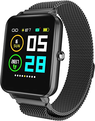 Zagzog Smart Watch 1.54 Full Touch Screen, All-Day Activity Tracking, IP68 Waterproof, Step Counter, Pedometer, Ultra-Long Battery Life for iOS Andriod