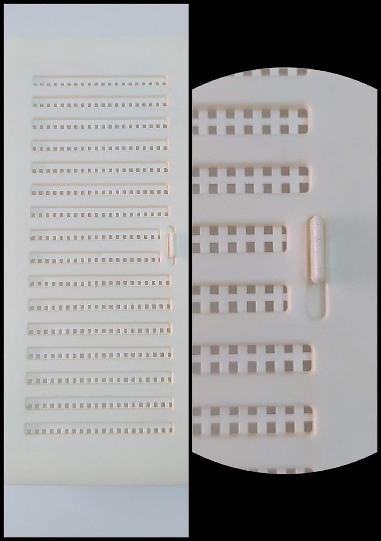 Especial para ba/ño y cocina. BricoLoco Lote 2 uds Rejilla de ventilaci/ón de pl/ástico rectangular tipo Shunt con cierre regulable