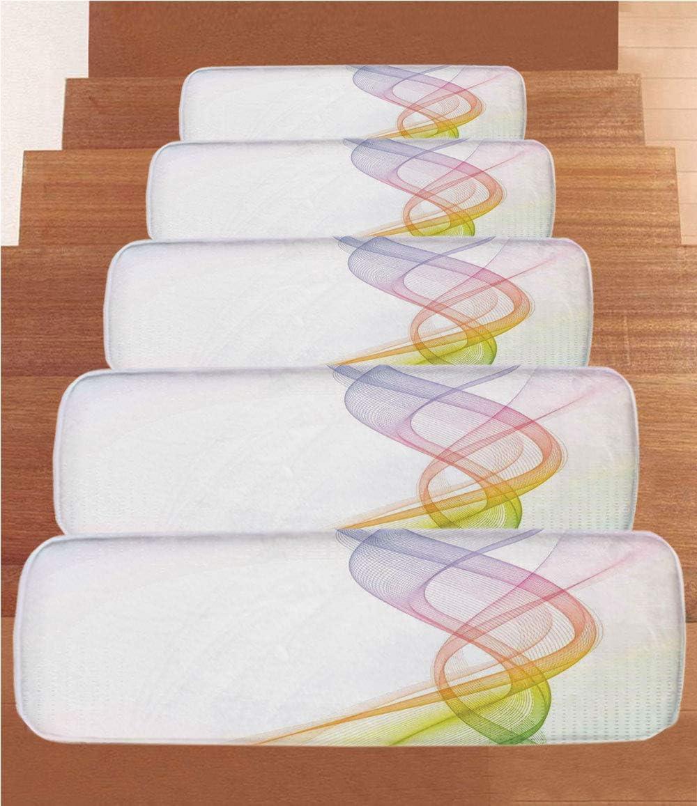 Moderna decoración Coral Forro Polar escaleras, Escalera alfombras ...