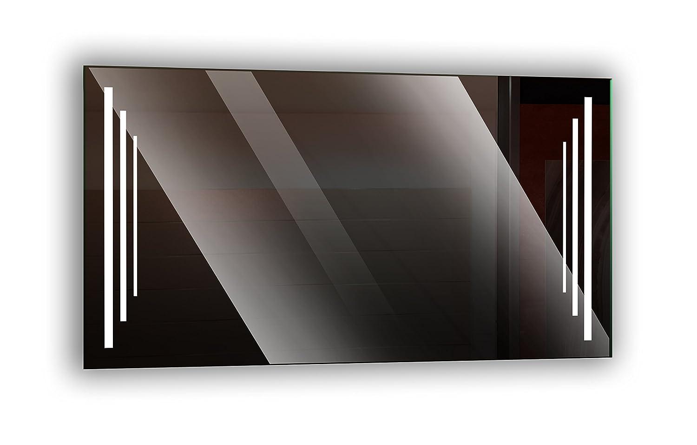 Ramix Spiegel mit LED Beleuchtung, Wandspiegel, Badezimmerspiegel, Eleganter Spiegel, Farbe  Weiß - Kaltweiß, Größe  Breite 100 cm x Höhe 60 cm