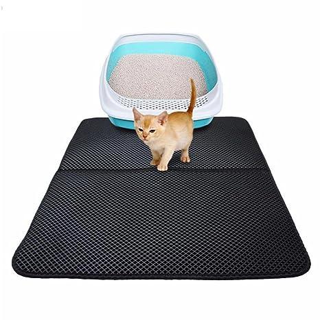 Esterilla para gatos, gato dispersa Matte para gatos Unterlage Panal Diseño alimentador para gatos de