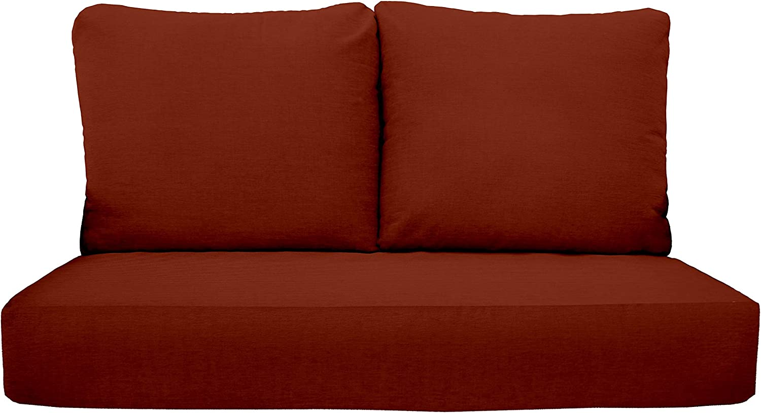"""RSH Décor Indoor Outdoor Sunbrella Deep Seating Loveseat Cushion Set, 1-46"""" x 26"""" x 5"""" Seat and 2-25"""" x 21"""" Backs, Choose Color (Canvas Terracotta)"""