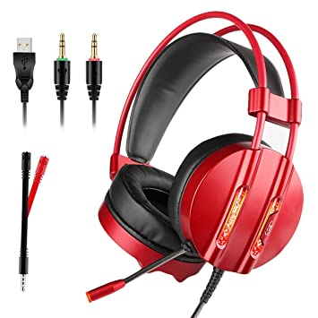 Tectri Stereo Gaming Headset USB mit Mikrofon 7.1: Amazon.de ...