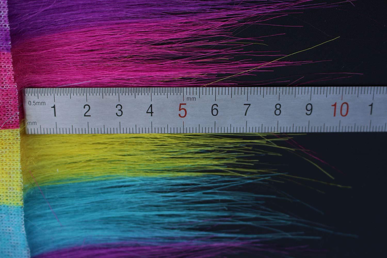 weich Tigofly Furabou Bastelfell 20 x 10 cm Regenbogenfarben k/ünstliche Faser Fliegenfischen Fl/ügel zum Binden Schwanz