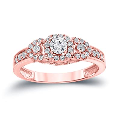 f99fa1fa4 14k Gold 1/2ct cttw 3-Stone Diamond Engagement Ring (H-I, I1-I2) Size 4-9