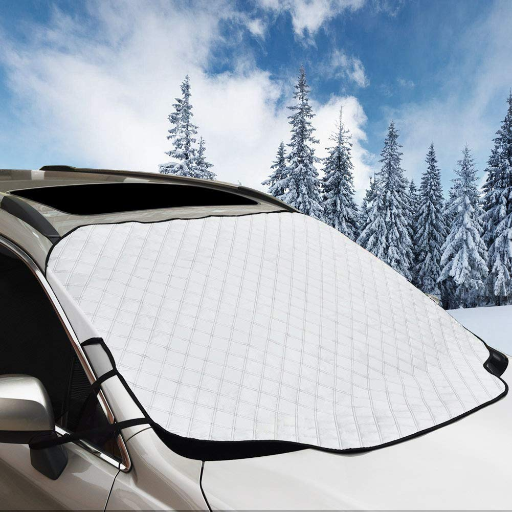 Car Windshield Snow Cover, BSTpower 72''x46'' Huge Size Magnetic Windshield Cover, Ice Removal Wiper Visor Protector All Weather Winter Summer Auto Sun Shade for Fits Any Car, Truck, SUV, Van or Autom