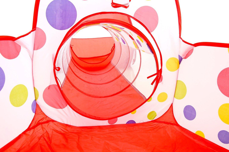 Tente + Piscine /à balles + Pipeline SKL Kids Toddler Pop Up Ball Piscine ext/érieure balles Non incluses