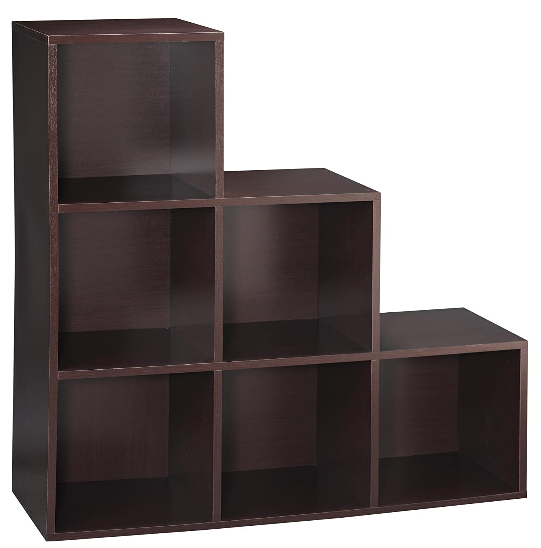 Amazon.com: Essential Home 6 Cube Step Storage Unit   Espresso: Kitchen U0026  Dining