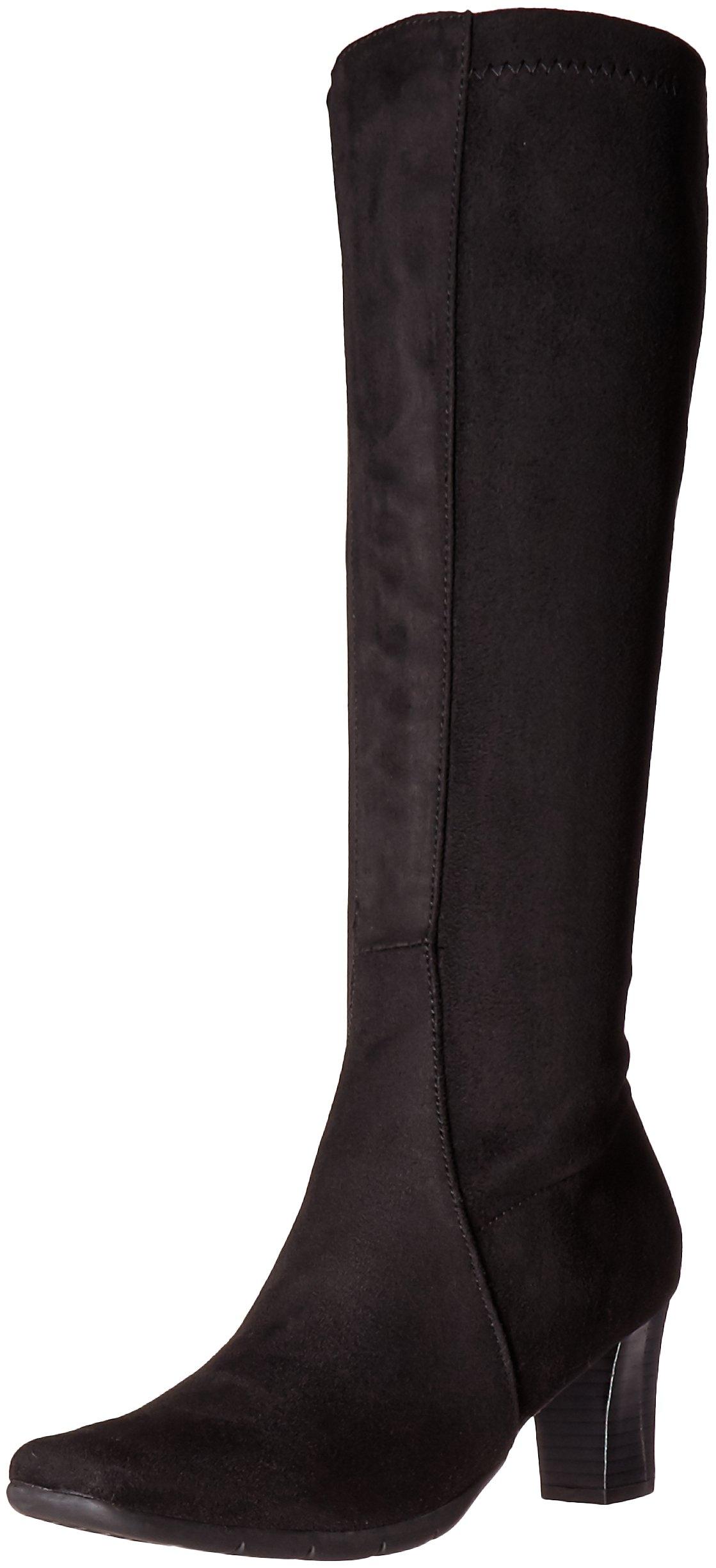 A2 by Aerosoles Women's Lemonade Boot, Black Fabric, 6 M US