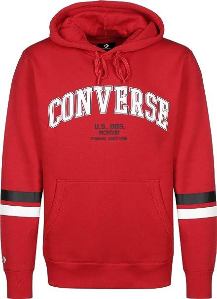 Converse Sweater Herren Collegiate PO Hoodie 10017323 Rot 603