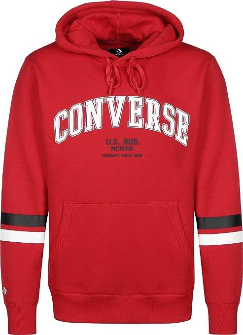 Converse Sweater Herren Collegiate PO Hoodie 10017323 Rot