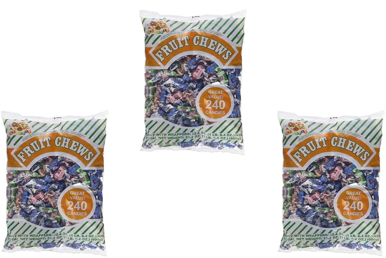 Albert's Fruit Chews - Assorted Flavors (240 Candies) (3 Pack)