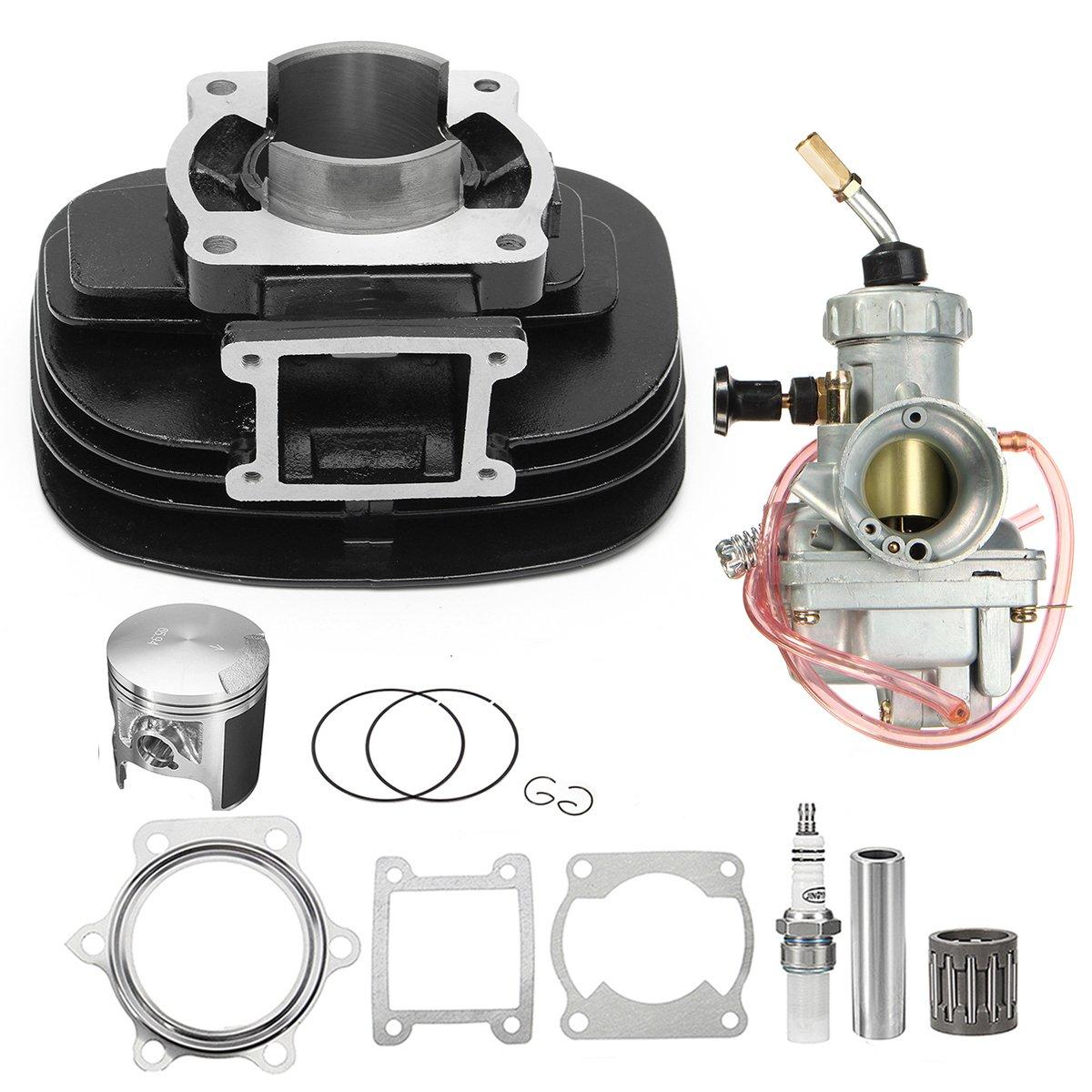 Kungfu Mall Cylinder carburador Carb Pist/ón Junta Top End Kit para Yamaha YFS200 Blaster 200