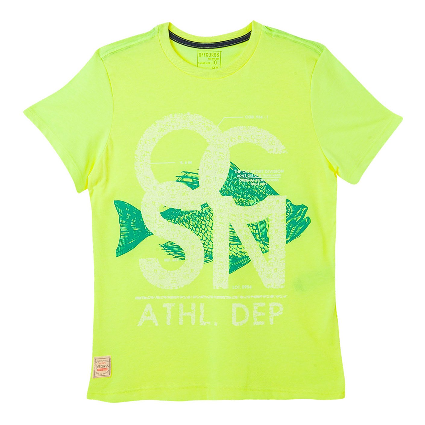 OFFCORSS Trendy Stylish Short Sleeve Tshirt for Kids Camiseta De Niños Yellow 10 by OFFCORSS (Image #1)