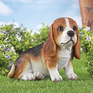 Buddy Beagle Dog Outdoor Garden Statue