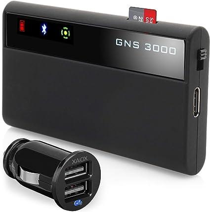 Gns 3000 Mfi Iphone Ipad Ipod Inkl Xaiox Kfz Ladegerät Bluetooth Gps Empfänger Mit Micro Usb Slot Sport Freizeit