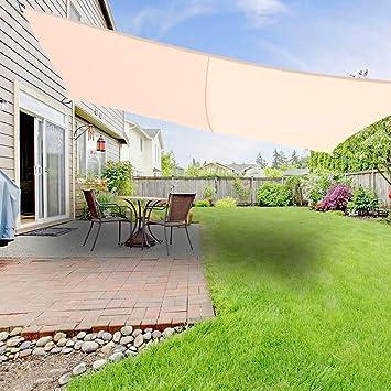 Greenbay Sonnensegel Aus Polyester Atmungsaktiv Schatten Segel Fur Garten Rechteckig 2x3m Uv Schutz Viele Farben Creme