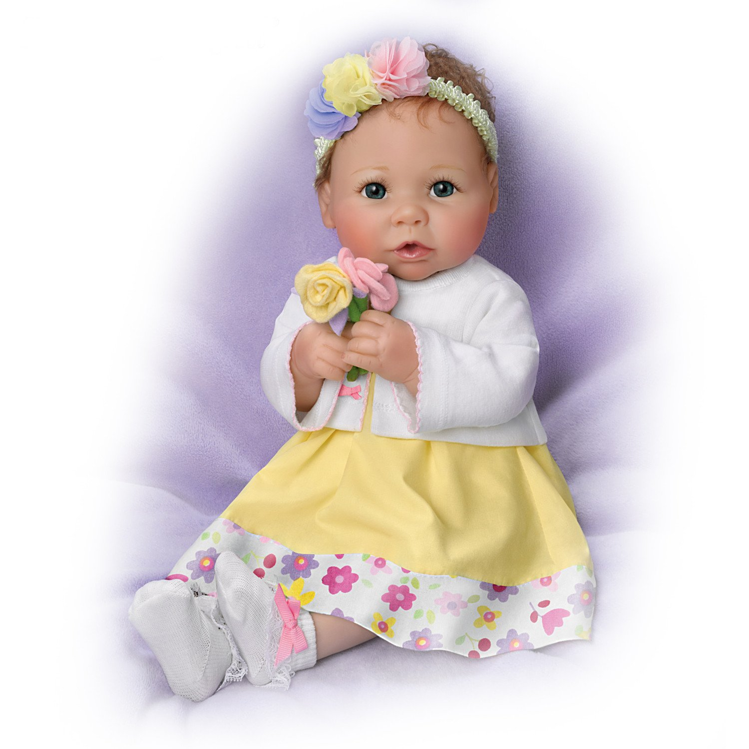 Linda Murray Every Day Is Mother's Day Lifelike Poseable Baby Doll by The Ashton-Drake Galleries