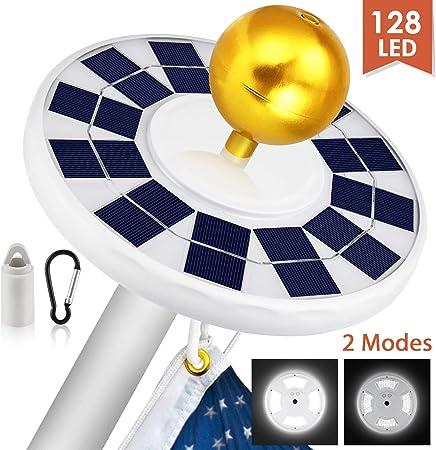 26 LED Solar Powered Flag Pole Light Super Bright IP65 Waterproof Downlight Lamp
