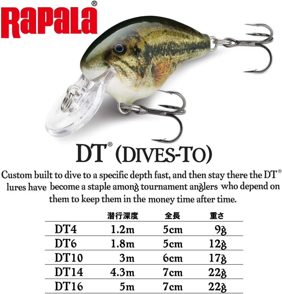 Rapala DT-14 /& 16 Crankbait Lot of 4