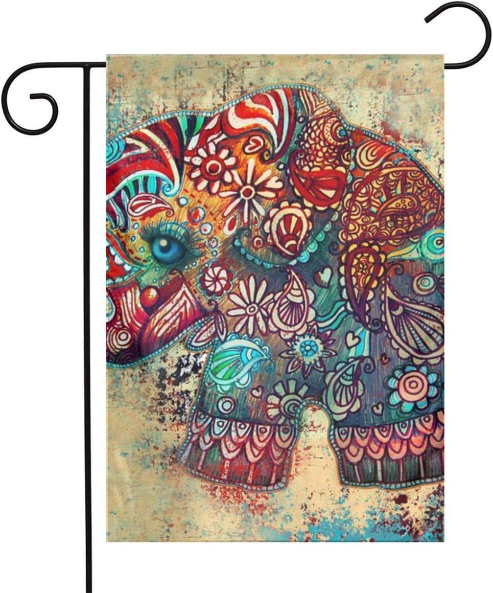 TYHG - Bandera de elefantes antiguos para bebé, estampado en 3D, para casa, césped, decoración al aire libre, 12