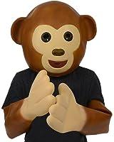 "Emoji Universe: Emoji ""See No Evil, Hear No Evil Monkey"" Latex Mask & Hands"