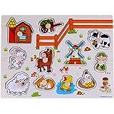 Rolimate giocattoli forma di puzzle Bundle Farm Animals spina di legno
