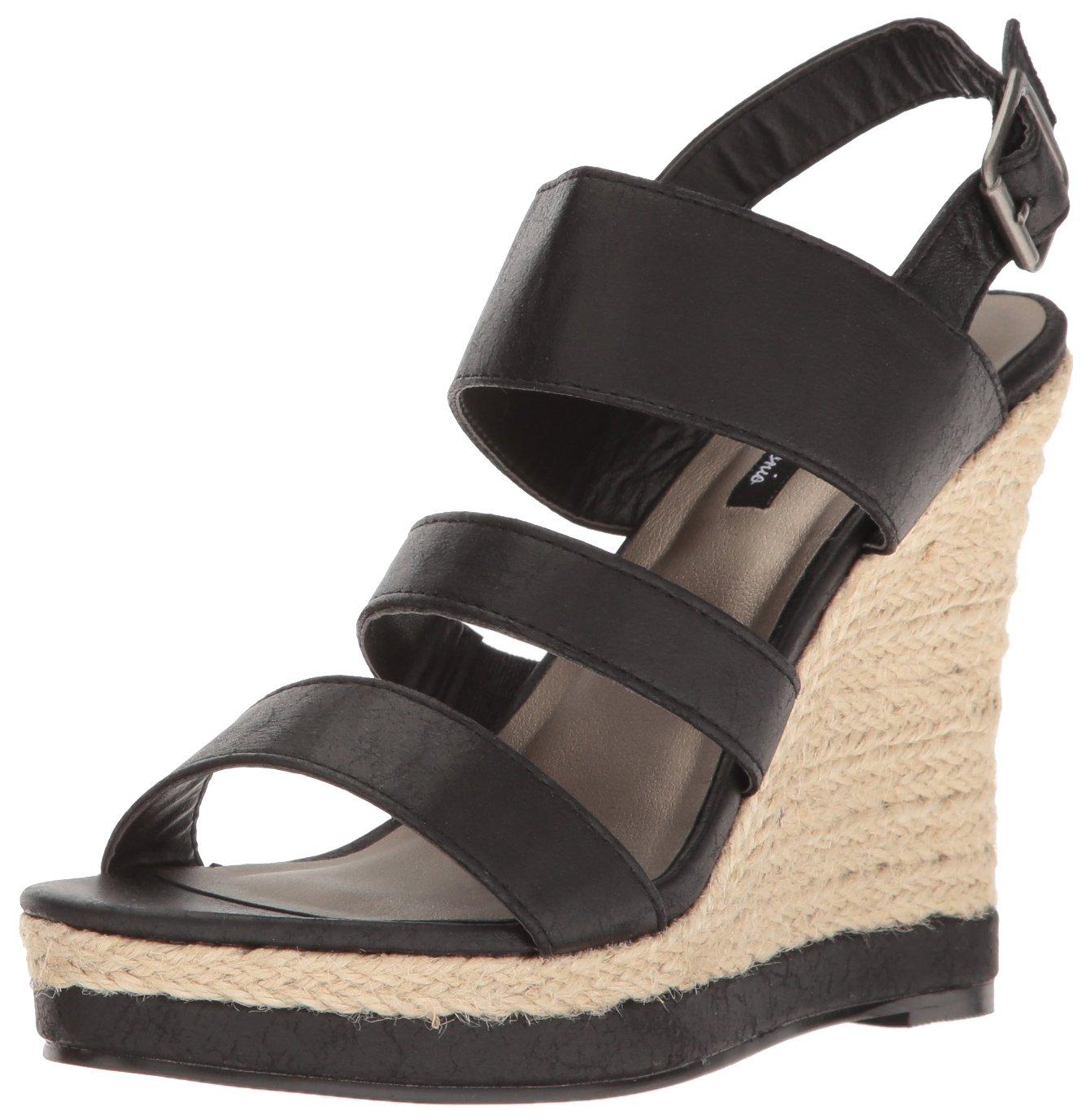 Michael Antonio Women's Givs Espadrille Wedge Sandal B01N3W5AE4 9 B(M) US|Black