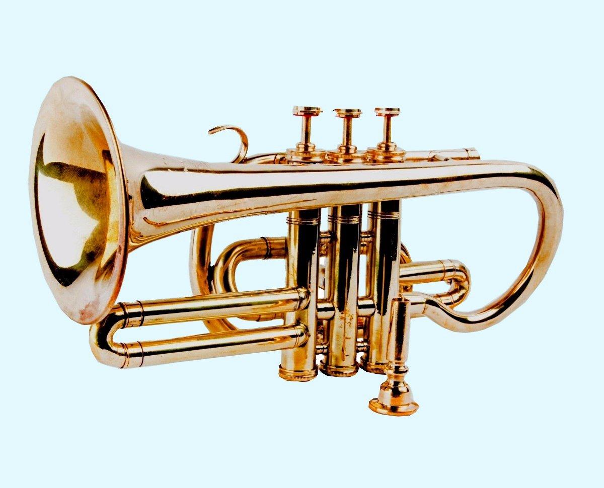 Antique World Home Décor Musical Gift Instrument Solid Brass Pocket Trumpet Cornet AWUSABC 04
