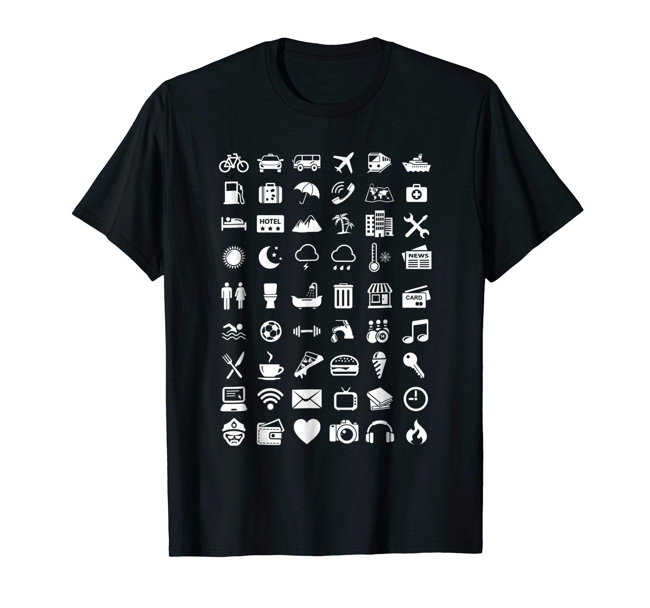Travel Icon Language Travelling Shirt