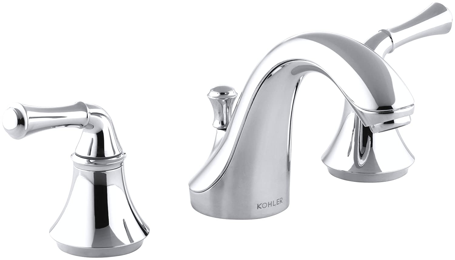 KOHLER K 10272 4A CP Forte Widespread Lavatory Faucet with Traditional  Lever Handles  Polished Chrome   Touch On Bathroom Sink Faucets   Amazon com. KOHLER K 10272 4A CP Forte Widespread Lavatory Faucet with