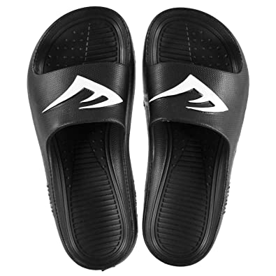2f959871adc8b7 Everlast Kids Junior Sliders Pool Shoes Slip On Comfortable Fit Pattern  Textured Black White UK