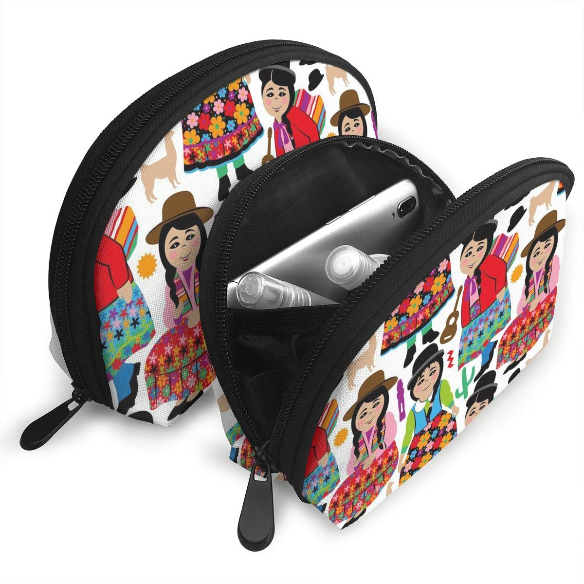 0579a2823aa6 Amazon.com: JDISJLJ Cosmetic Travel Bag Bolivian Girls Shell ...