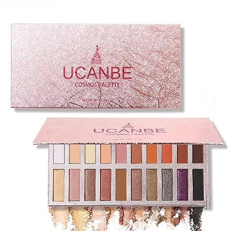 UCANBE Paletas de Sombras de Ojos Brillanes 20 Colores Paletas de Colores de Tono de Tierra Paletas de Maquillaje Profesional (02#)