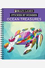 Brain Games - Sticker by Number: Ocean Treasures (Geometric Stickers) Spiral-bound