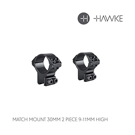 Match sport Scope Mount Rings 25mm High for 9-11mm Dovetail with recoil stop pin