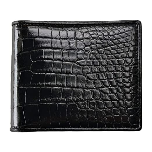 6faadb2f69 Men's Genuine Crocodile and Ostrich Skin Wallet by CHERRY CHICK (Birthday  Ideal & Graduation Gift)