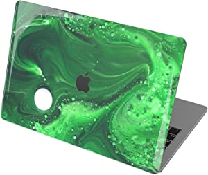 "Vonna Hard Shell Case for Apple MacBook Pro 16"" 2019 Pro 13"" 2020 Retina 15"" Air 13"" 2018 Mac Air 11"" Mac 12"" Print Touch Bar Green Paint Cover Oil Top Design Abstract Texture Plastic Poison t0203"