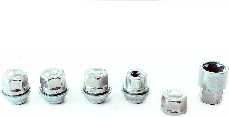 HEYNER Germany Nisan Note Models 2006 To 2013 StillBull Locking Wheel Nuts Removal Key M12x1.5 Set 4 Locks Alloys Antitheft Protection Bolts P-OHF