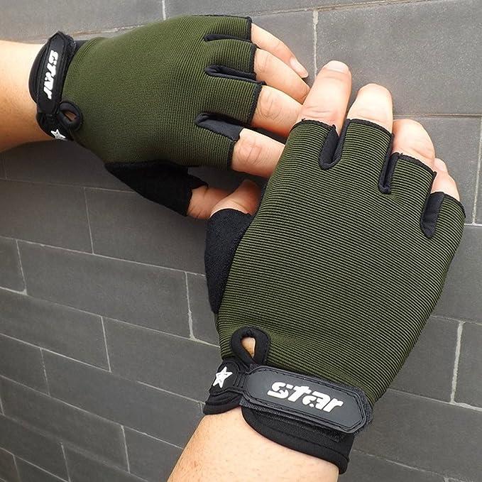 Herren Handschuhe Fingerlose Fingerhandschuhe Fundamental Winter Outdoor Fitness Sport Fahrhandschuhe Laufhandschuhe XXYsm