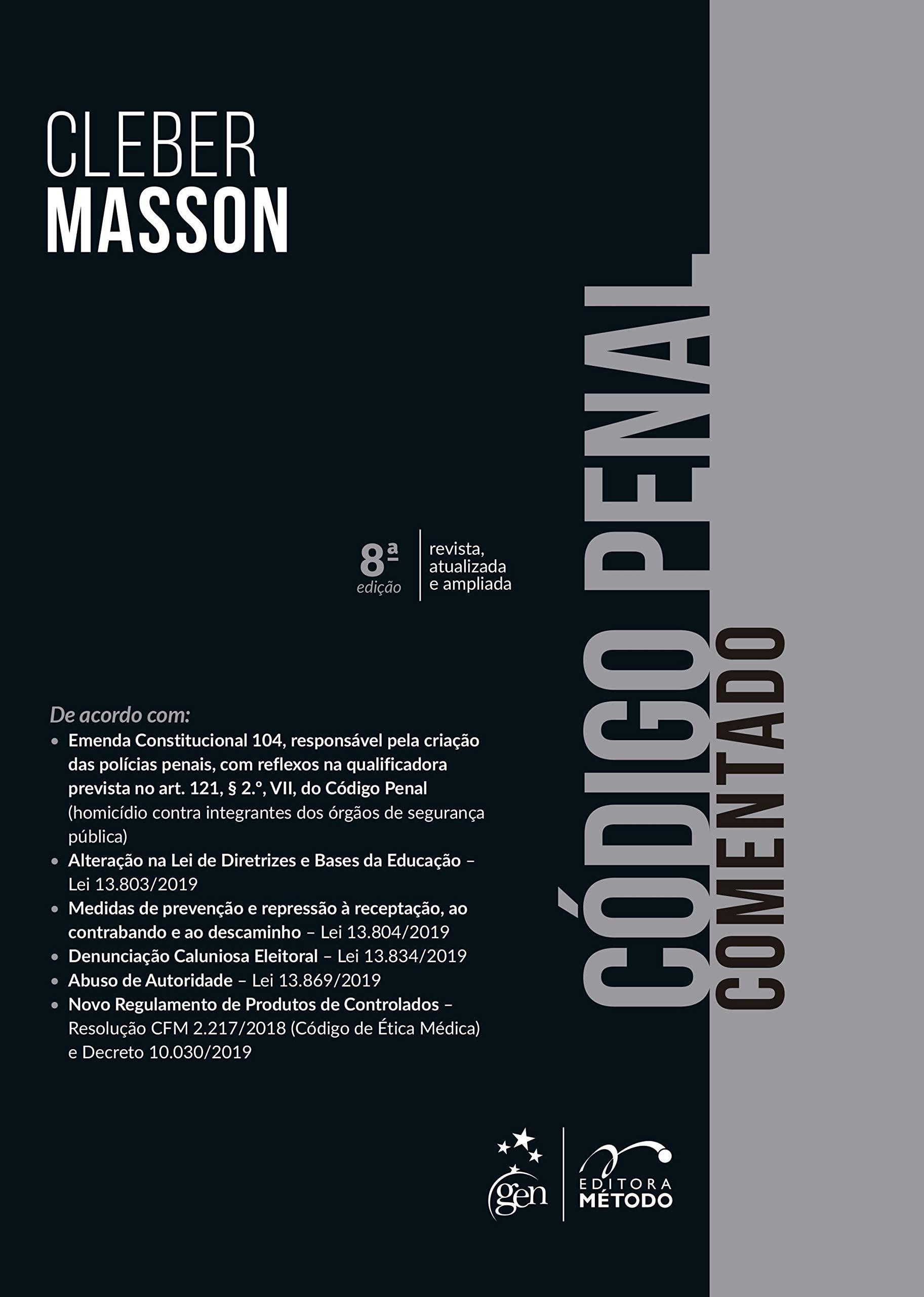 Codigo Penal Comentado (Em Portugues do Brasil): Amazon.es: Cleber Masson: Libros