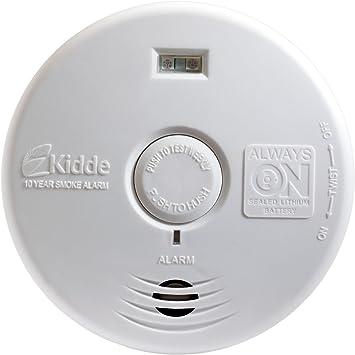 Kidde P3010h Worry Free Hallway Smoke Alarm With Safety Light And 10 Year Sealed Battery Smoke Detectors Amazon Com