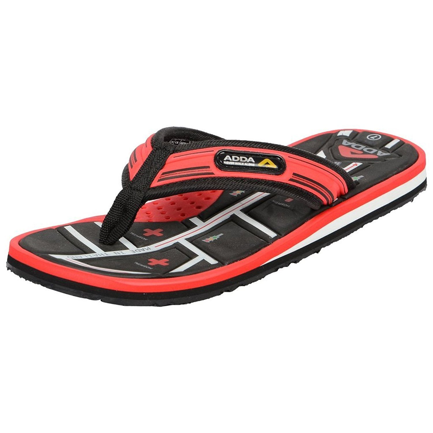 fb622fb47 Adda Men s Omega 4 Navy Blue   White Flip-Flops  Buy Online at Low Prices  in India - Amazon.in