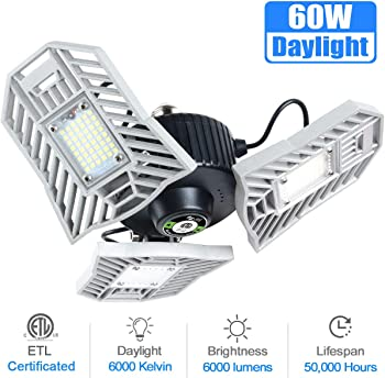 Myteaworld 6000 Lumens Tribright LED Garage Light