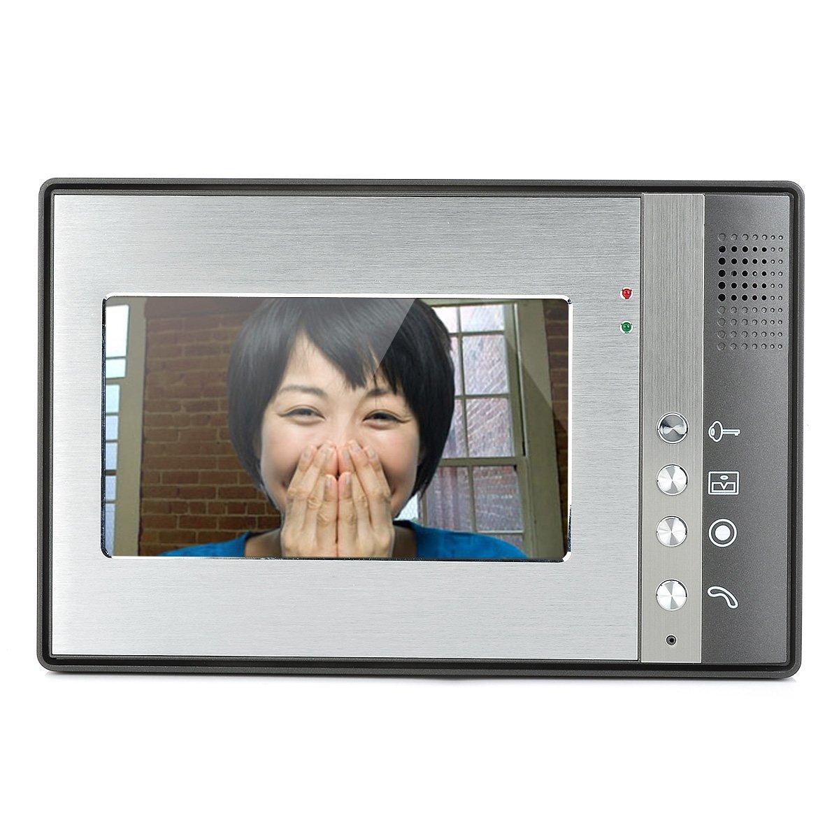 1-To-2 7'' TFT Rainproof Wired 3.6MM Digital Video Door Phone - Grey