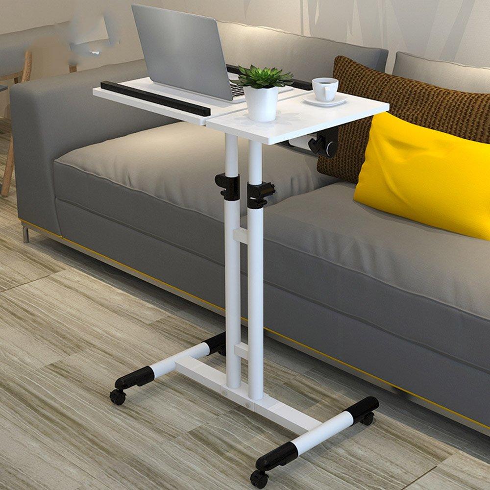 Klapptisch einstellbar Hebe-Nachttisch Mobiler Tisch Schreibtisch 5 Farben erhältlich 60  40cm Kann gedreht Werden (Farbe : D)
